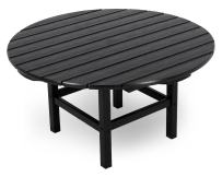 "POLYWOOD RCT38BL Round 38"" Conversation Table, Black"