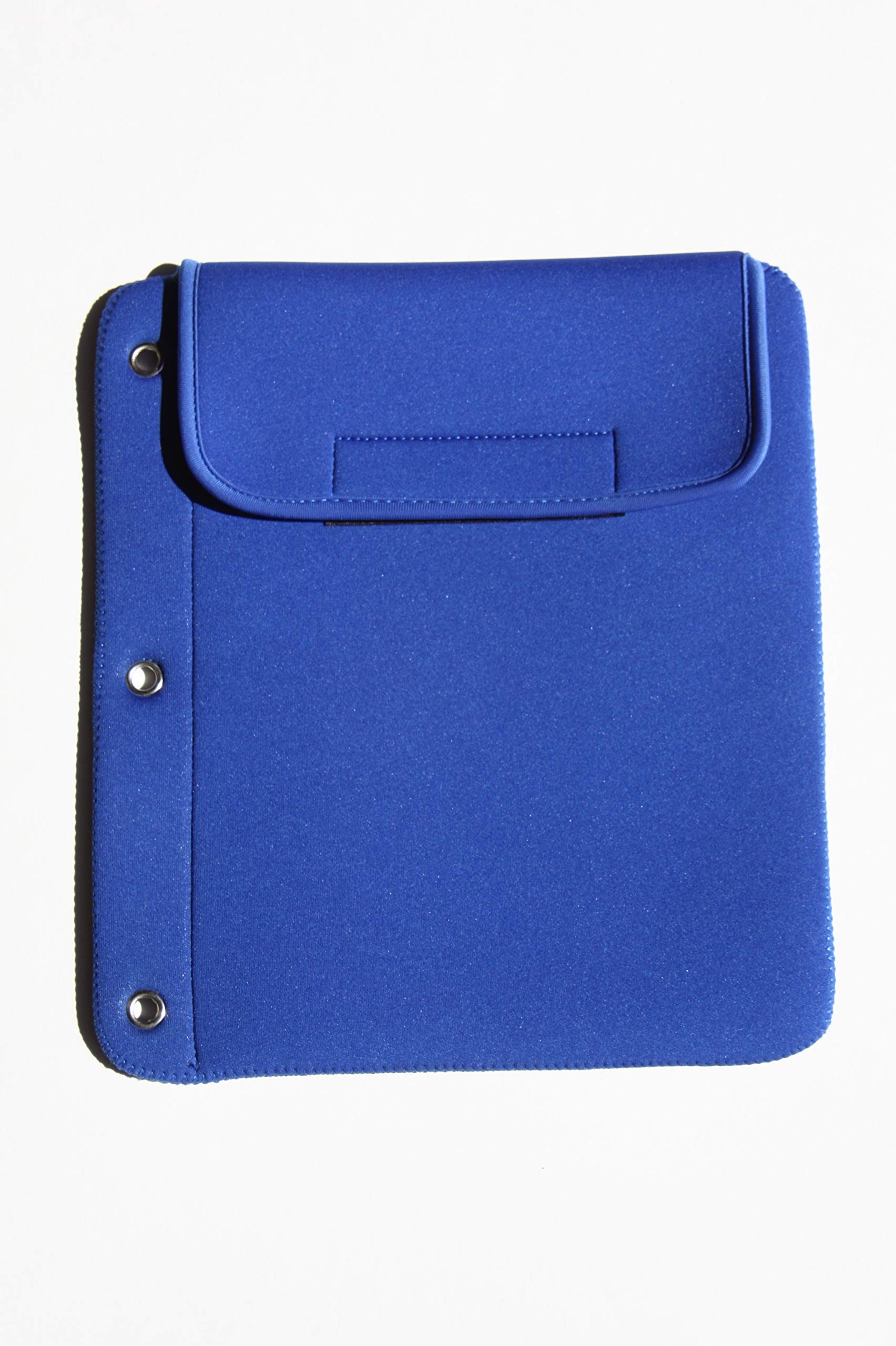 Tablet Cubbie Protective Patented 3-Ring Binder Neoprene Sleeve Case for iPad, e-Reader, Kindle, Tablets [iPad Air, iPad Mini, iPad Pro 9.7] Fits Over 40 Devices (Blue)