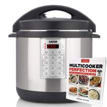 Zavor Select 6 Quart Electric Pressure Cooker with America's Test Kitchen Multicooker Perfection Cookbook