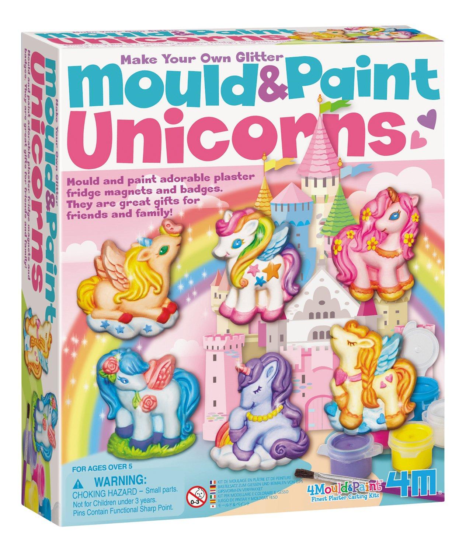 4M Unicorns Mold & Paint Kit - DIY Paint Arts & Crafts Sculpture Kit for Kids - Fridge, Locker, Party Favors, Project Gifts for Boys & Girls
