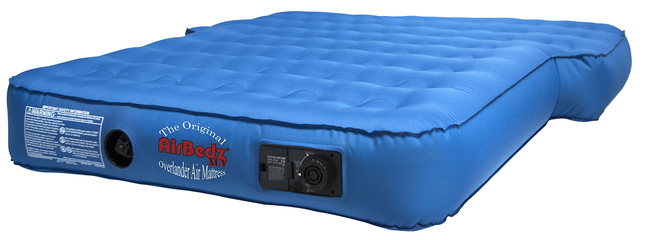 Pittman Outdoors AirBedz PPI-XUV Blue Jeep, SUV and Crossover Vehicle Rear Seats Mattress (with Built-in Rechargeable Battery Air Pump)