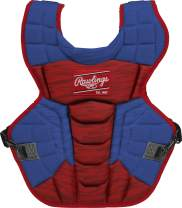 Rawlings Velo 2.0 Intermediate NOCSAE Baseball Catcher's Chest Protector, Royal and Scarlet