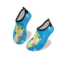 Starry Earth Kids Water Shoes Boys and Girls Barefoot Aqua Socks for Beach Pool Surfing