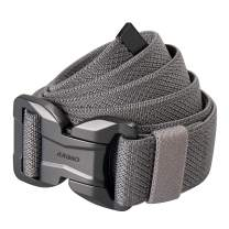 """JUKMO Magnetic Tactical Belt, Military Gun Rigger 1.5"""" Nylon Web Work Belt with Heavy Duty Quick Release Buckle"""