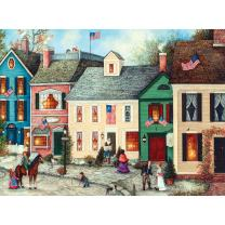 Bits and Pieces - 500 Piece Jigsaw Puzzle for Adults - Flag Street - 500 pc American Jigsaw by Artist Linda Nelson Stocks