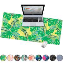 """French Koko Large Mouse Pad, Desk Mat, Keyboard Pad, Desktop Home Office School Cute Decor Big Extended Laptop Protector Computer Accessories Pretty Mousepad Women Girls XL 31""""x15""""(Palm Dreaming)"""
