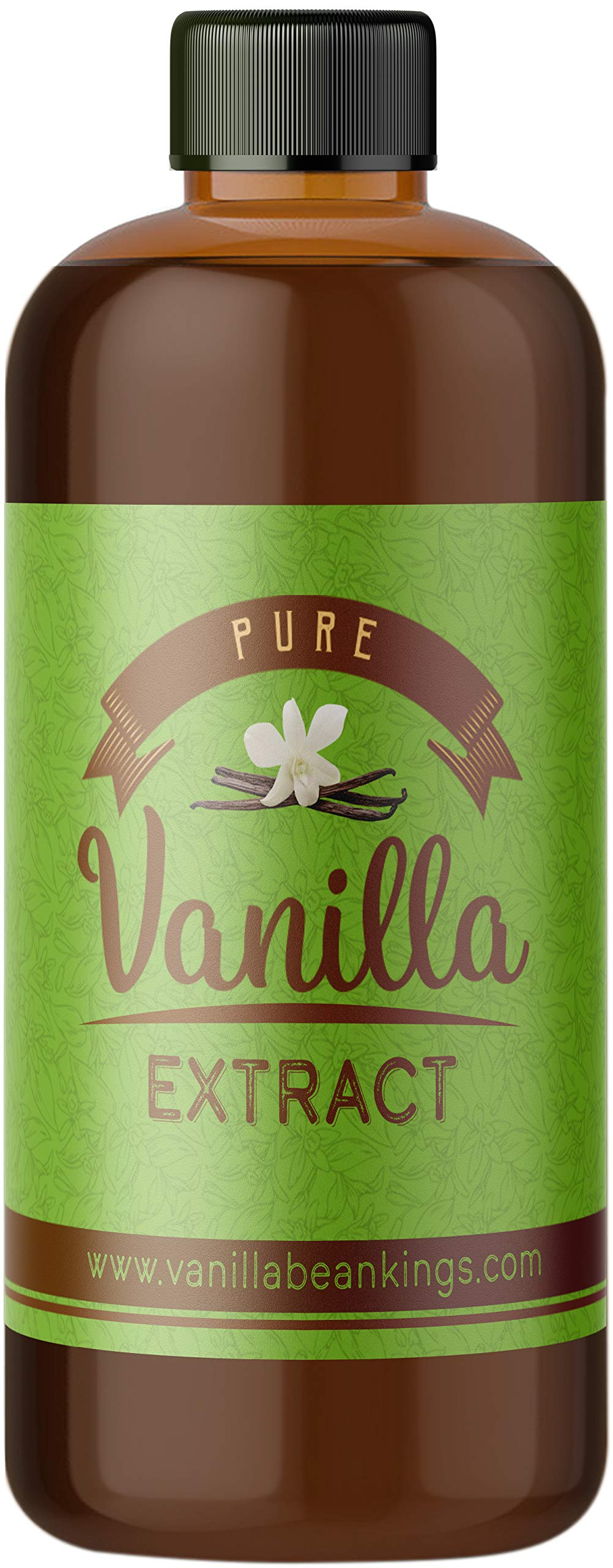 Pure Vanilla Extract for Baking and Cooking - Gourmet Madagascar Bourbon Blend made with Real Vanilla Beans, 8 Ounces (Double Fold)
