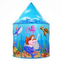 Mermaid Kids Tent with Carry Bag, Ocean World Pop Up Play Tent, Kids Playhouse for Indoor and Outdoor, Great Toys and Gift for Both Boys and Girls…
