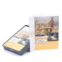 Hallmark Thomas Kinkade Boxed Christmas Cards, Snowy House (16 Cards and 17 Envelopes)