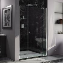 DreamLine Allure 43-44 in. W x 73 in. H Frameless Pivot Shower Door in Chrome, SHDR-4243728-01