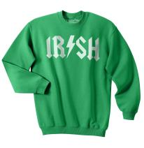 Irish Rockstar Funny Saint Patricks Day Shamrock Clover Sweatshirt for St Pattys