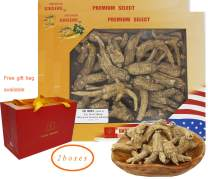 DOL Hand-Selected Sun Dried Cultivated Wisconsin American Ginseng Root Whole Large 美國威斯康辛州西洋參 花旗參 禮盒兩盒裝 16oz.(227g/Box)