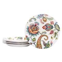 Bico Protea Cynaroides Ceramic Salad Plates, 8.75 inch, Set of 4, for Salad, Appetizer, Microwave & Dishwasher Safe