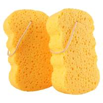 GAINWELL Bath Sponges - Natural Cellulose Sponge, Shower Exfoliating Loofah for Women - 2PCS
