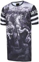 PIZOFF Unisex Digital Printing Luxury Extra Long T Shirts Extended Dress