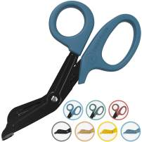 "7.5"" EMT Trauma Shears - Heavy Duty Bandage Scissors, Military-Grade for Doctors, Nurse, Paramedic First Responder and First Aid Emergency Trauma Kits (Blue Shears)"