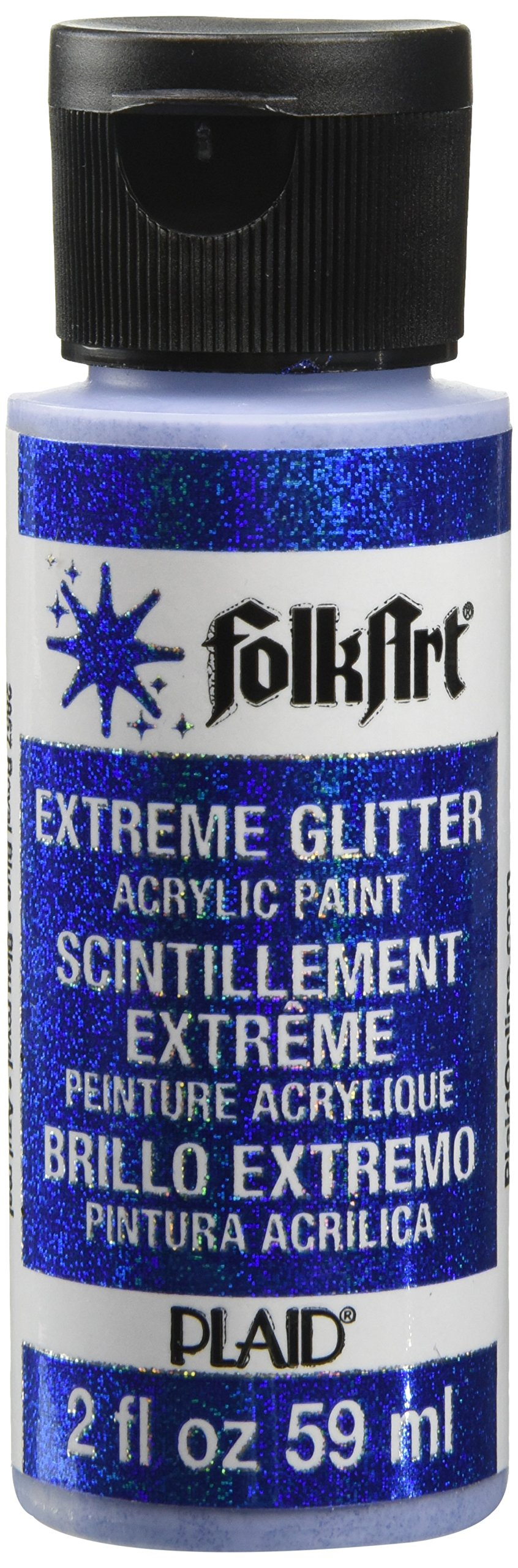 FolkArt Extreme Glitter Acrylic Paint in Assorted Colors (2 oz), 2857, Royal Blue