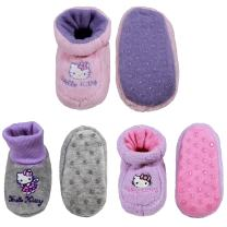 Infants Toddler Soft Warm Plush Cozy Fuzzy Cartoon Animal Slippers Booties Non-Slip Lined Socks Shoes - A06