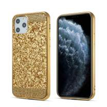 ZCDAYE Case for iPhone 11 Pro Max, Bling Glitter [Crystal Rhinestone Diamond] Soft TPU Rubber Silicone [Electroplating Edge] Shockproof Protective Back Case for iPhone 11 Pro Max (6.5 inch) - Gold