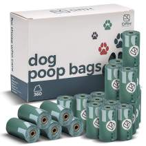 """Biodegradable Dog Poop Bags – 360 bags - 13x9"""" Refills for Pet Poop Bag Dispenser - BIG MESS BUDDIES for Dogs – Heavy Duty, Odor & Leak Proof (15 Microns) – Biobased, biodegradable, compostable"""