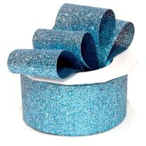 "Morex Ribbon Princess Glitter Ribbon, 1.5"" x 10 Yd, Ice Blue"