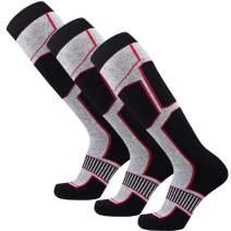 Pure Athlete Snowboard Socks for Men - Comfortable Warm Skiing Snowboarding Sock Women, Winter