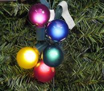 Vickerman Pack of 10 Multi Satin G50 Globe Replacement Christmas Light Bulbs for C7 Socket