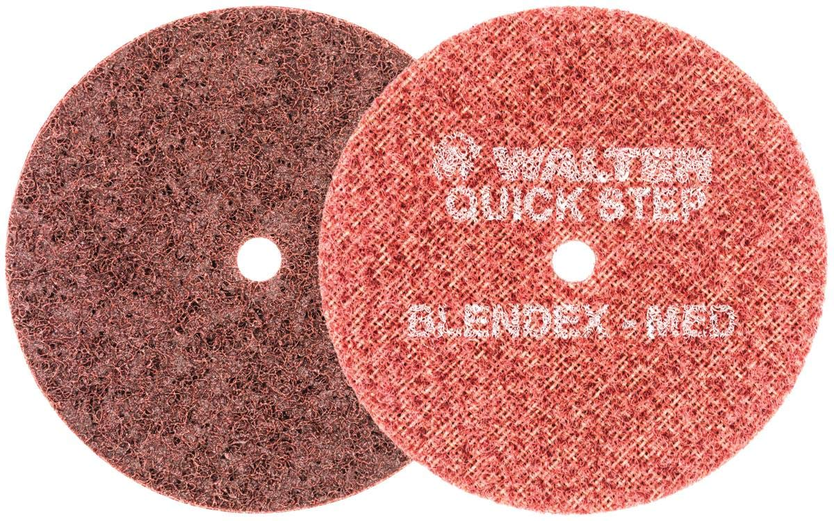 Walter Blendex Surface Conditioning Disc - [Pack of 10] Maroon Medium Grit Metal Grinding Disc. Power Finishing Tools