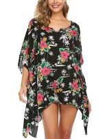 ADOME Women's Swimsuit Beach Cover Up Floral Print Shirt Bikini Beachwear S-XXL