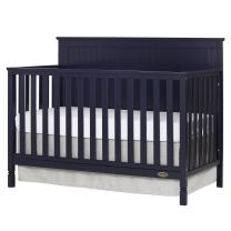 Dream On Me Alexa 5 in 1 Convertible Crib, Navy