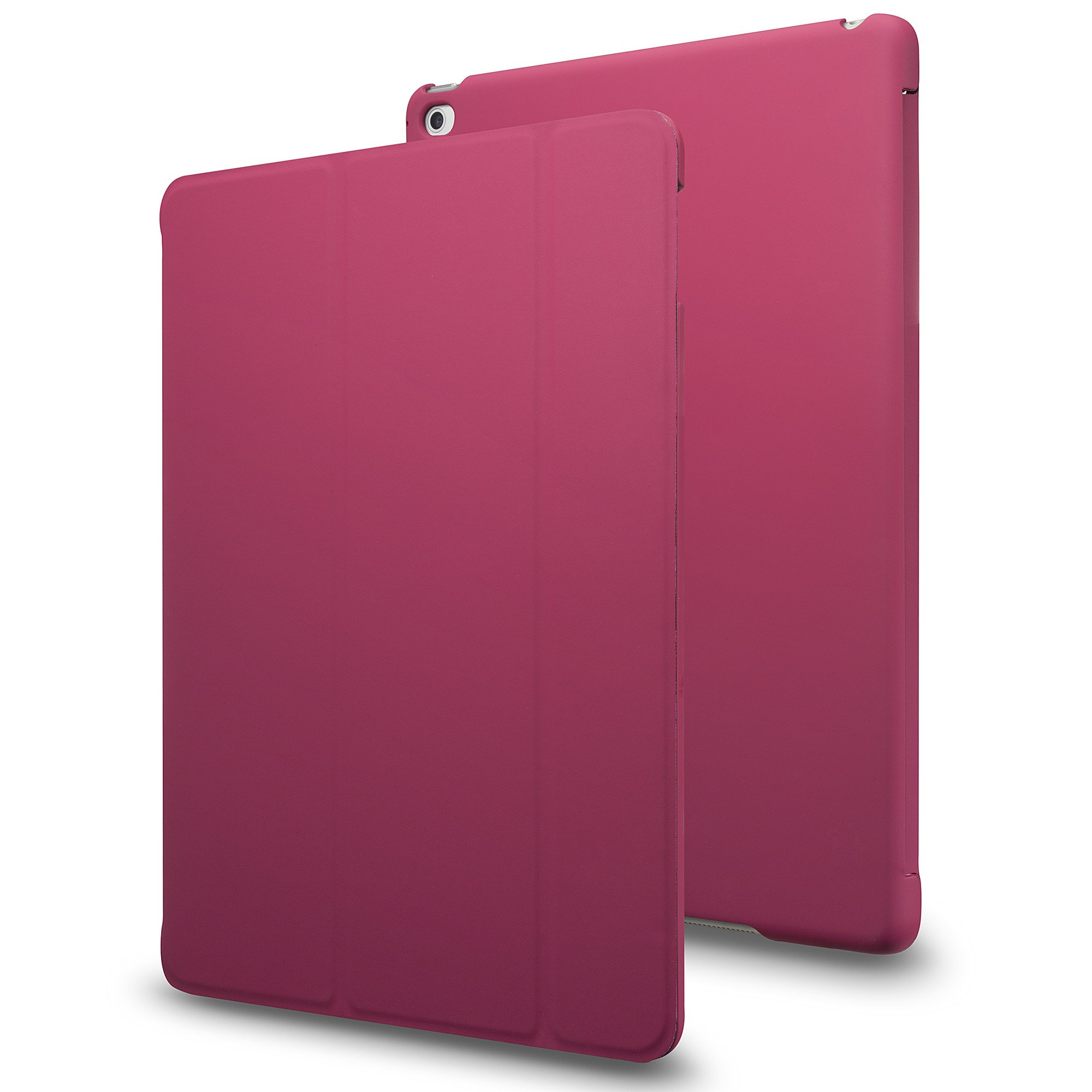 INVELLOP iPad Pro case, Hot Pink [Slim Fit] Case Cover for Apple iPad Pro 9.7 (2016 Release) (Fits ONLY 9.7 inch iPad Pro) (Hot Pink)