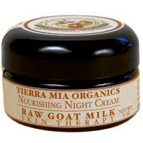 Tierra Mia Organics Raw Goat Milk Skin Therapy Nourishing Night Cream, 2 Ounce