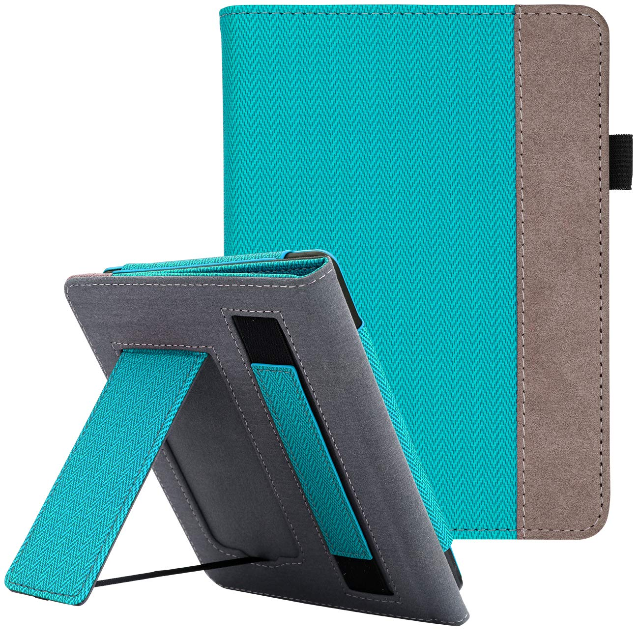 WALNEW Stand Case Fits Kindle Paperwhite 10th Generation 2018 PU Leather Case Smart Protective Cover with Hand Strap (Mint Green)