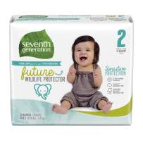 Seventh Generation Baby Diapers, Size 2, 31 Count