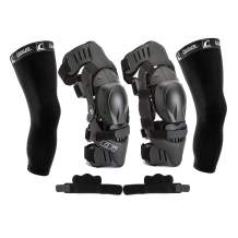 Ossur CTi Knee Brace Protection Set - Motocross Edition - Includes Right and Left Sides, Patella Protector Cups, Gear Guards, Anti-Migration Wraps, Under-Sleeves and CTi Stickers (X-Large)