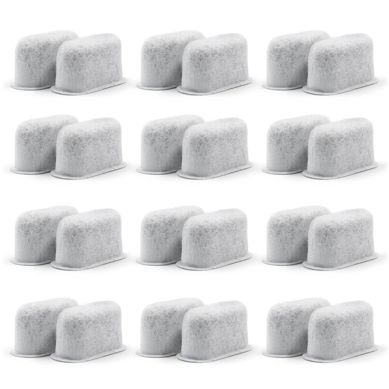 Replacement Charcoal Water Filters -Removes Chlorine, odors, and others impurities from Water -Better Tasting Coffee-for Cuisinart Coffee Machines- Set of 24 pack
