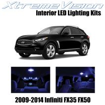 Xtremevision Interior LED for Infiniti FX35 FX50 2009-2014 (12 Pieces) Blue Interior LED Kit + Installation Tool