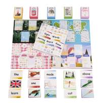 THE BAMBINO TREE Sight Words and Vocabulary Sorting Flashcard Board Game - Learn to Read Words and Categorize Pictures