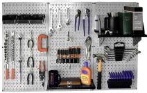 Wall Control 30-WRK-400GB Standard Workbench Metal Pegboard Tool Organizer,Gray/Black