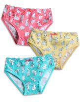 VAENAIT BABY 2T-7T Girls Briefs 100% Cotton Underwear Set (Pack of 3)