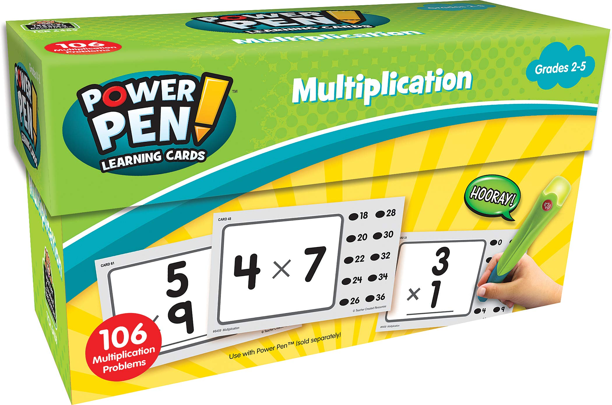 Teacher Created Resources Power Pen Learning Cards: Multiplication (6459)