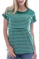 Smallshow Women's Maternity Nursing Tops Striped Breastfeeding T-Shirt