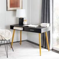 Safavieh Home Office Jorja Modern Black and Gold 1-drawer Desk