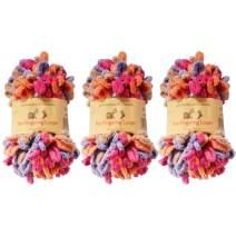 BambooMN Finger Knitting Yarn - Fun Finger Loops Yarn - 100% Polyester - Hecate - 3 Skeins