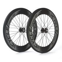 VCYCLE Nopea 700C Carbon Clincher Track Wheelset 88mm Fixed Gear Single Speed 32 Holes