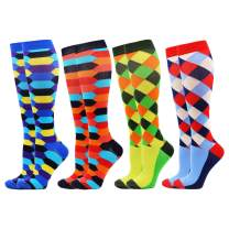 WeciBor Compression Socks for Women & Men 20-30 mmHg is Best Graduated Athletic,Running,Flight,Travel,Nurses