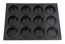 New Star Foodservice 37845 Aluminum Non-Stick Muffin Pan with 12 Cups