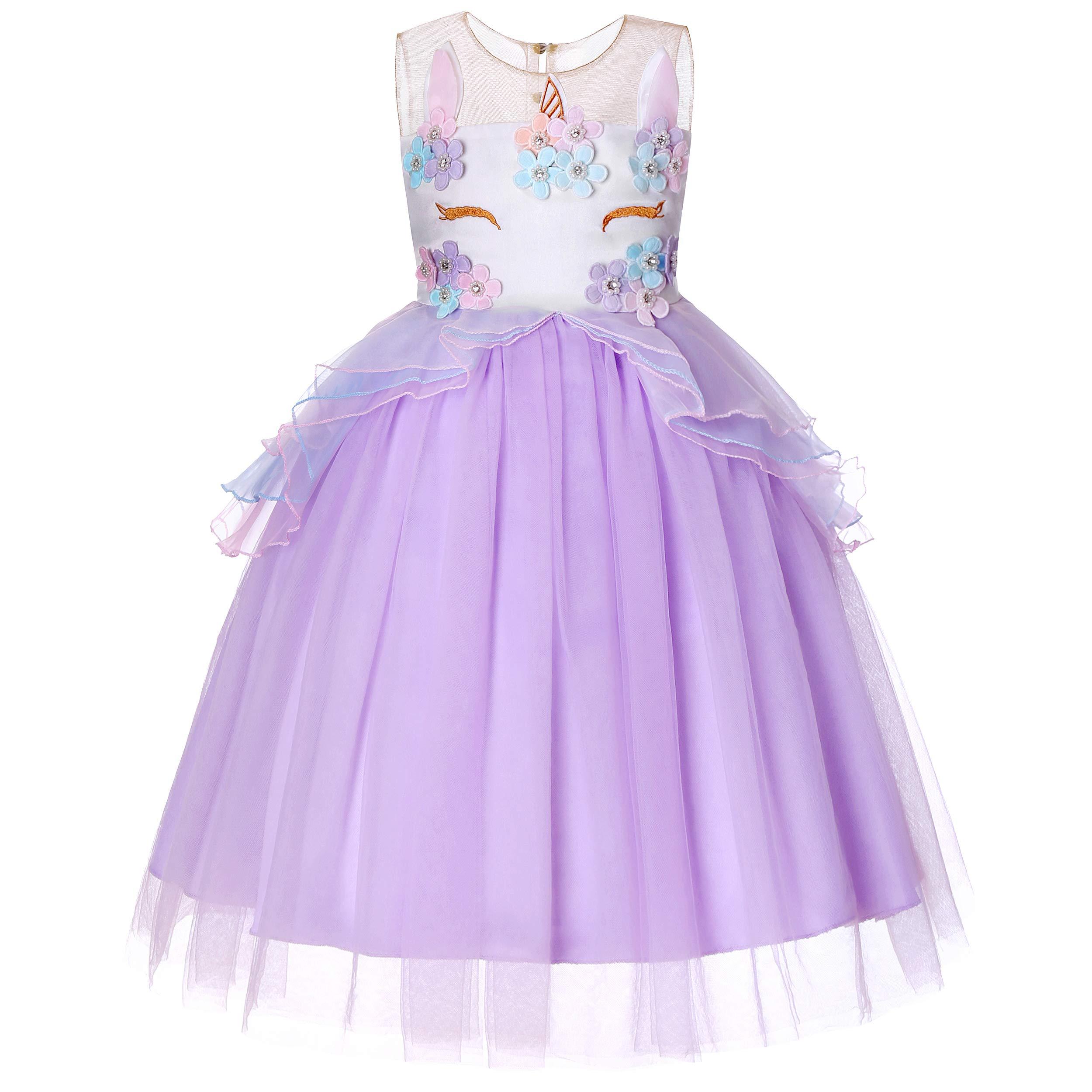 Molliya Unicorn Costume Dress Girl Princess Pageant Party Dresses Flower Evening Gowns Tutu Fancy Dress