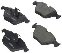 Bosch BP1260B QuietCast Premium Semi-Metallic Disc Brake Pad Set For BMW: 2009-2011 335d, 2007-2012 335i, 2009-2013 335i xDrive, 2011-2013 335is, 2013-2015 X1; Front