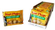 Wildlife Sciences Suet Plugs 48 Pack, Case of 12 Individually Wrapped 12 oz 4 Packs